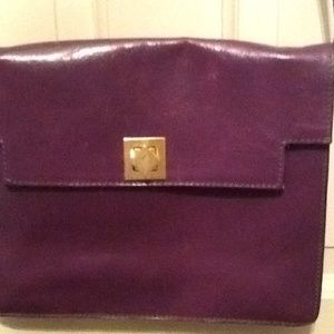 Furla Purple Leather Shoulder Bag